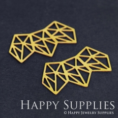 4pcs Raw Brass Geometry Charm Pendant Fit For Necklace Earring Brooch RD195