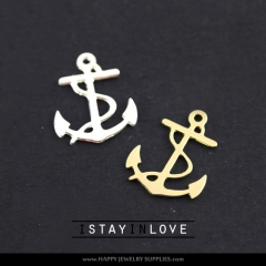 2pcs Anchor Charm Pendant Fit For Necklace Earring Brooch GDSD043