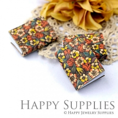 2pcs Flower Handmade Mini Photo Leather Book BK10