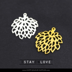 2pcs Flower Brass Charm Pendant Fit For Necklace Earring Brooch GDSD018