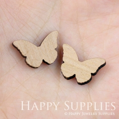 4pcs DIY Laser Cut Wooden Butterfly Charms SWC40