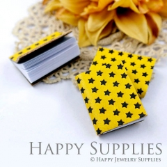 2pcs Black Star Yellow Handmade Mini Photo Leather Book BK05