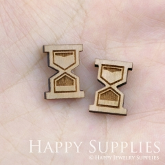 4pcs DIY Laser Cut Wooden Hourglass Charms SWC87