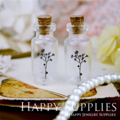 4pcs 35x16mm Tree Handmade Photo Glass Tiny Bottle Vials Pendants PB-M24