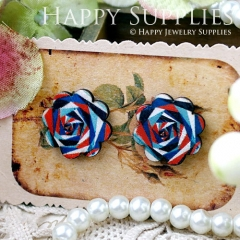 8Pcs Flower Flower Handmade Photo Wood Cut Cabochon CF020