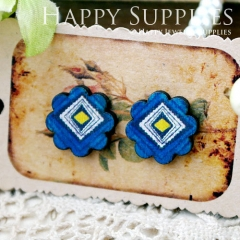 8Pcs Pattern Flower Handmade Photo Wood Cut Cabochon CF035
