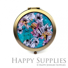 1pcs Flower Handmade Photo Pocket Mirror GS51