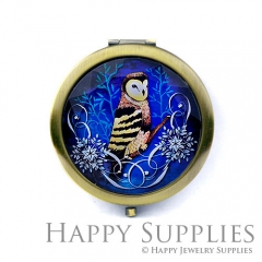 1pcs Owl Handmade Photo Pocket Mirror GS28