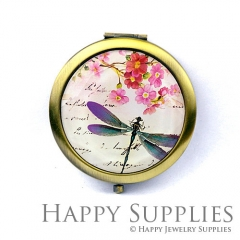 1pcs Flower Dragonfly Handmade Photo Pocket Mirror GS37