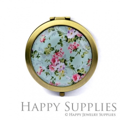 1pcs Flower Handmade Photo Pocket Mirror GS45