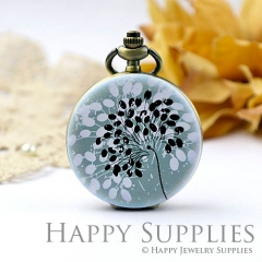 1pcs Dandelion Handmade Antique Bronze Brass Photo Pocket Watch Pendant WP01