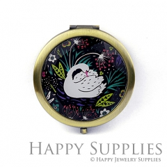 1pcs Swan Flower Handmade Photo Pocket Mirror GS25