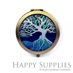 1pcs Tree Handmade Photo Pocket Mirror GS44