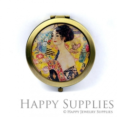1pcs Beautiful Lady Handmade Photo Pocket Mirror GS43