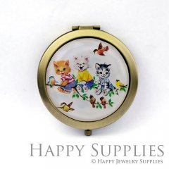 1pcs Lovely Cat Handmade Photo Pocket Mirror GS48