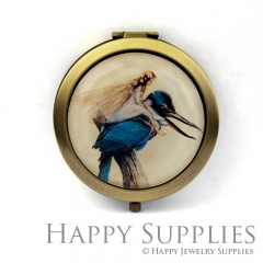 1pcs Girl Bird Handmade Photo Pocket Mirror GS50