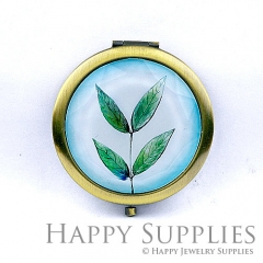 1pcs Leaves Handmade Photo Pocket Mirror GS36