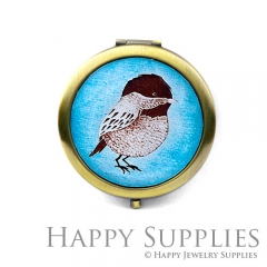 1pcs Bird Handmade Photo Pocket Mirror GS34