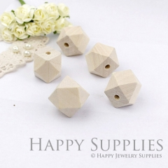 5pcs 20mm Cube Geometric Wooden Beads (MT023)