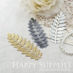 1pcs Nickel Free -LARGE Long and Leafy Branch Stamping / Leaves Branch Charms / Pendant (EBD03A)