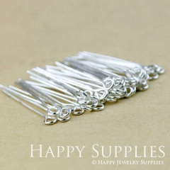 200pcs 26mm Long Silver Eyepins (18777-B)