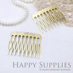 4pcs Nickel Free - High Quality Real Antique Bronze Copper 9 Teeth Barrette Hair Combs(ZX148)