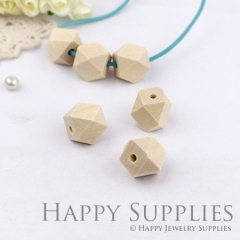 10pcs 12mm Cube Geometric Wooden Beads (MT021)