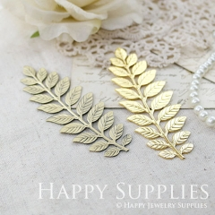1pcs Nickel Free - LARGE Long and Leafy Branch Stamping / Leaves Branch Charms / Pendant (EBD03)