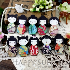 20pcs MIX Large Handmade Colorful Japanese Doll Charms Pendants