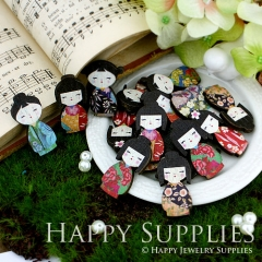 20pcs MIX Mini Handmade Colorful Japanese Doll Charms Pendants