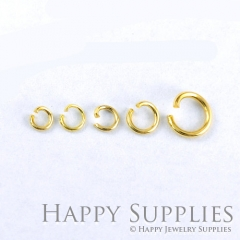100pcs Nickel Free - High Quality 3.5mm/ 4mm/ 5mm/ 7mm Golden JumpRings (AD26-G)