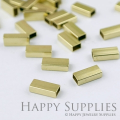 20pcs - 4x7x16mm High Quality Raw Brass Tube Charms with a Hole/ Pendants Connector (ZG168)