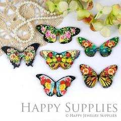 6Pcs Mini Handmade Butterfly Charms Pendants