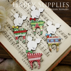4pcs Mini Handmade Colorful Christmas Deer Charms Pendants
