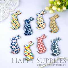 8Pcs Mini Handmade Vintage Rabbit Charms Pendants