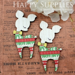 2pcs Mini Handmade Colorful Deer Charms Pendants