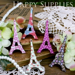 5pcs Handmade Colorful Lovely Eiffel Tower Charms Pendants