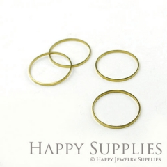 Large 20pcs - 30mm High Quality Raw Brass round Charms / Pendants Connector (ZG164)