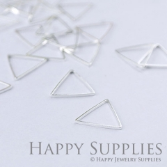 20pcs - 15X15mm High Qualityb Silver Brass triangle Charms / Pendants Connector(ZG146-S)