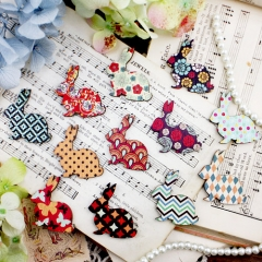 12Pcs Mini Handmade Vintage Rabbit Charms Pendants