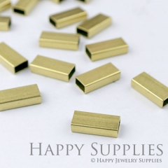 20pcs - 3x5x12mm High Quality Raw Brass Tube Charms with a Hole/ Pendants Connector(ZG169)