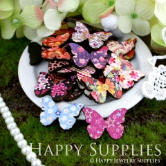 20Pcs Mini Handmade Colorful Butterfly Charms Pendants