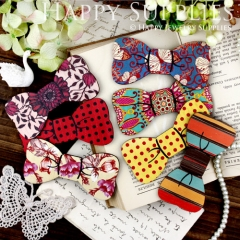 7pcs MIX Large Handmade Colorful Lovely Bowtie Charms Pendants