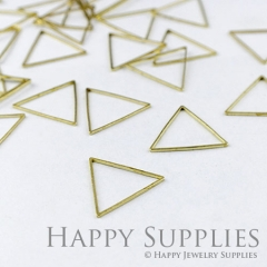 20pcs - 15X15mm High Quality Raw Brass triangle Charms / Pendants Connector(ZG146)
