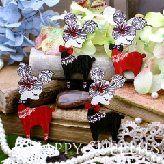 4pcs Mini Handmade Colorful Deer Charms Pendants