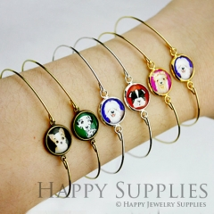 0.68 each - 20pcs 12mm High Quality Cabochon Pendant Base Bangle Bracelet (PBC)