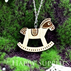 2Pcs Large Handmade Lovely Rocking Horse Charms Pendants