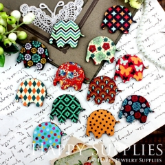12Pcs Mini Handmade Vintage Elephant Charms Pendants