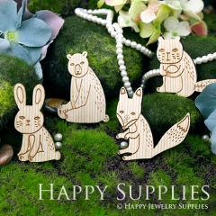 4Pcs Large Handmade Lovely Animal Charms Pendants