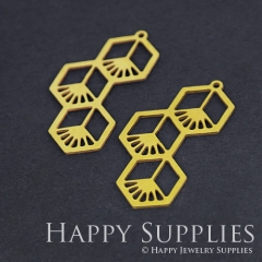 6pcs Raw Brass Geometry Charm Pendant Fit For Necklace Earring Brooch RD247